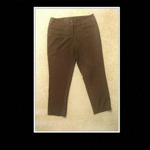 Kenar Brown Cropped Dress Pants Sz10